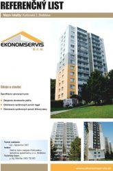 Ekonomservis, referenčný list, Kuklovská 3, Bratislava