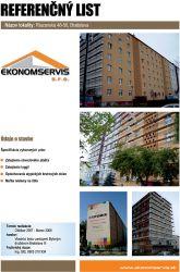 Ekonomservis, referenčný list, Riazanska 48 - 50, Bratislava