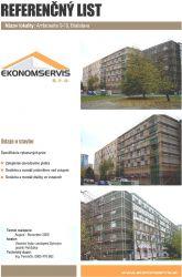 Ekonomservis, referenčný list, Ambroseho 9-19, Bratislava