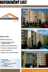 Ekonomservis, referenčný list, Pri Šajbách 24, Bratislava