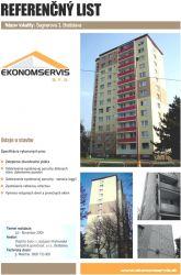 Ekonomservis, referenčný list, Segnerova 3, Bratislava