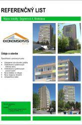 Ekonomservis, referenčný list, Segnerova 4, Bratislava