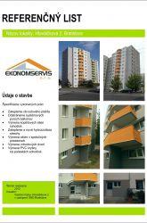 Ekonomservis, referenčný list, Hlaváčiková 2, Bratislava