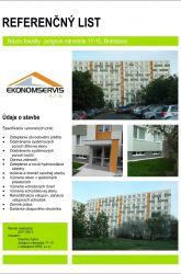 Ekonomservis, referenčný list, Jurigovo námestie 11 - 15, Bratislava