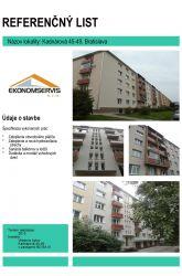 Ekonomservis, referenčný list, Kadnárová 45 - 49, Bratislava