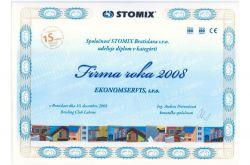 Ekonomservis, diplom, Firma roka 2008