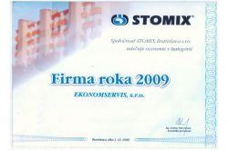 Ekonomservis, diplom, Firma roka 2009