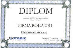 Ekonomservis, diplom, Firma roka 2011